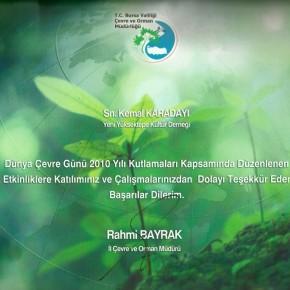 2010 Dünya Çevre Günü Etkinlikleri