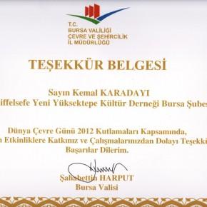 2012 Dünya Çevre Günü Etkinlikleri