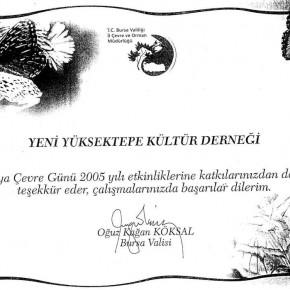 2005 Dünya Çevre Günü Etkinlikleri