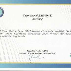 Uludağ Üniversitesi Orhaneli MYO İş Hayatında İletişim