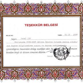 Namık Kemal İÖO Deprem Eğitimi 2006